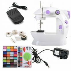 Joypea Mini Portable Sewing Machine with Extension Table,Adjustable Double Speed Crafting Mending Machine with Foot Pedal,for Household Kids Begin