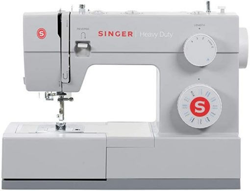 Heavy duty metal frame ensures that the machine remains Still for skip-free sewing Stainless steel bedplate provides smooth fabric feed for even sewing Made in China Amps:0.6. Volts - 110